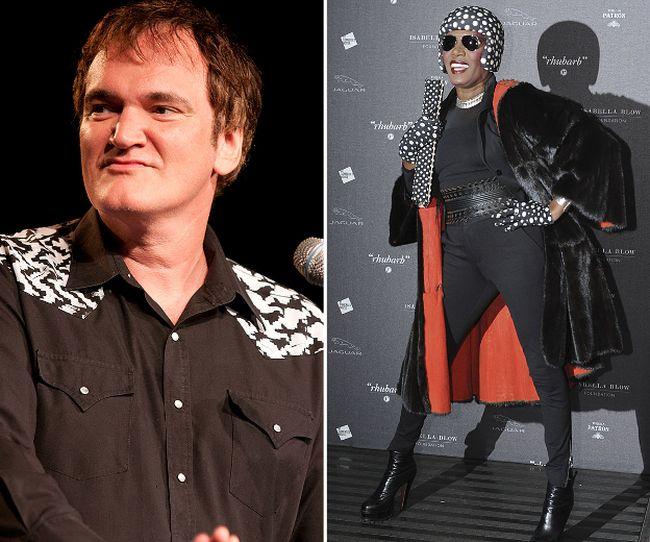 Quentin Tarantino and Grace Jones. (WENN.COM file photos