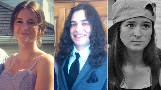 Raphaelle Boisvert, Jessy Chevalier and Roxanne Boisvert. (Handout/Facebook)