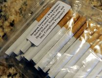 Contraband cigarettes. (SIMON CLARK / QMI AGENCY)