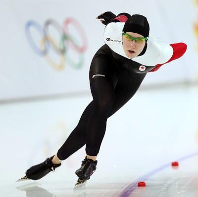 Kali Christ (Regina) Women's speed skating, 1,000 metres Finished 21st. (Al Charest, QMI Agency)