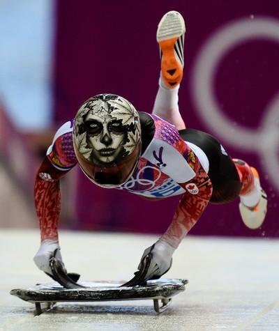 Mellisa Hollingsworth of Eckville, Alta.) Women's skeleton (through two of four runs) Sits 16th. (Didier Debusschere/QMI Agency)