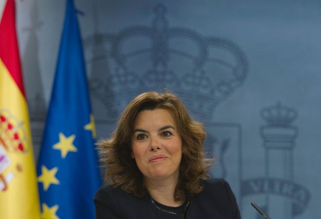 Spain's Deputy Prime Minister Soraya Saenz de Santamaria.  REUTERS/Sergio Perez