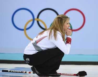 Jennifer Jones of Winnipeg, MB  during Women's Semifinal in curling, Great Britain vs Canada at the 2014 Winter Games in Sochi Russia, on 19 february 2014.  Ben Pelosse/Le Journal de Montréal/Agence QMI OLY2014