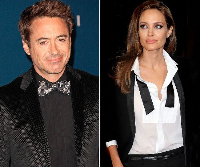 Angelina Jolie and Robert Downey Jr. (WENN.COM)