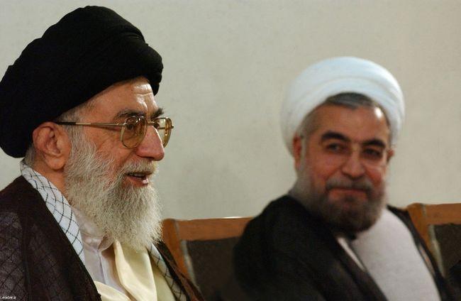 Iran's Supreme Leader Ayatollah Ali Khamenei meets with President-elect Hassan Rohani in Tehran June 16, 2013.  REUTERS/QMI Agency