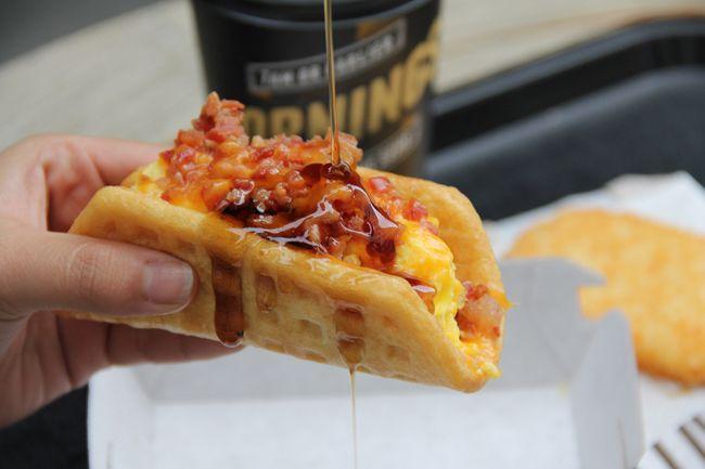 The waffle taco. (Taco Bell/handout)