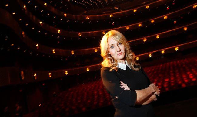 J.K. Rowling.  REUTERS/Carlo Allegri