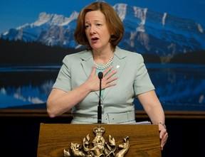 Alberta Premier Alison Redford. David Bloom/QMI AGENCY