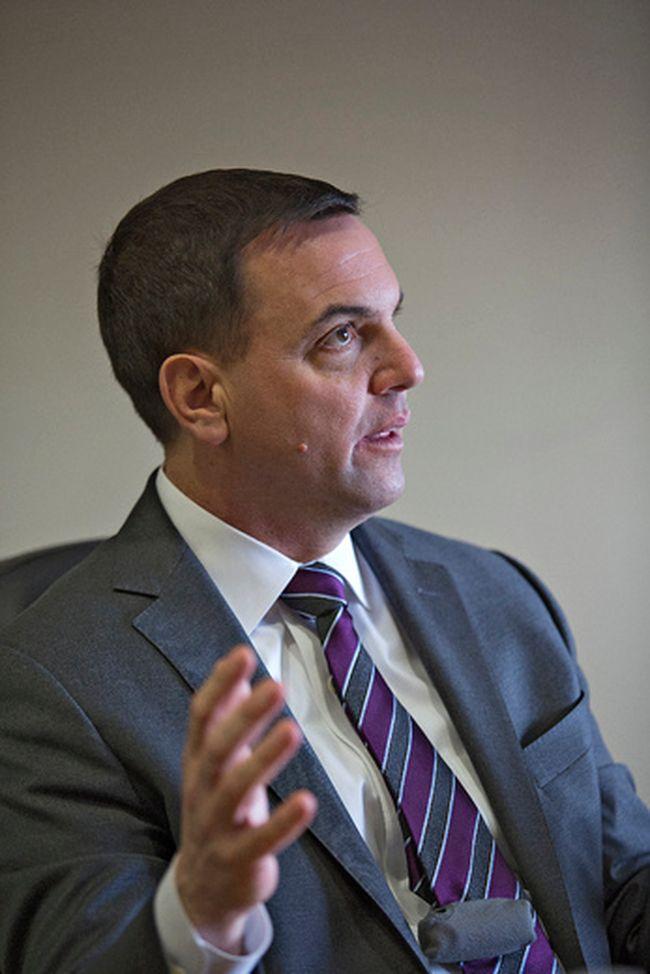 Ontario PC Leader Tim Hudak in an interview  Tuesday, March 11, 2014 in Brantford. (BRIAN THOMPSON/QMI Agency)