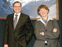 Premier Ed Stelmach  and Alison Redford