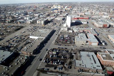Looking north down 101 Street near 105 Avenue, in Edmonton Alta., on Wednesday March 19, 2014. David Bloom/Edmonton Sun/QMI Agency