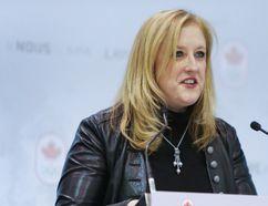 Lisa Raitt, Minister of Transport, speaks during the Canada Olympic men's hockey roster announcement in Toronto, Ont. on Tuesday January 7, 2014. (Ernest Doroszuk/QMI Agency)