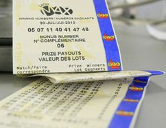 A Lotto Max ticket. (Toronto Sun files)