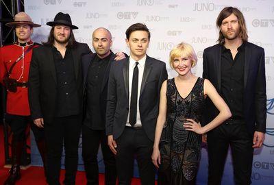 July Talk arrives on the red carpet at the 2014 Juno Awards in Winnipeg March 30, 2014. REUTERS/Trevor Hagan