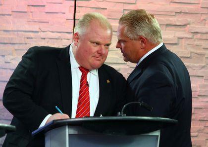 Mayor Rob Ford and his brother, Councillor Doug Ford. (Toronto Sun files)