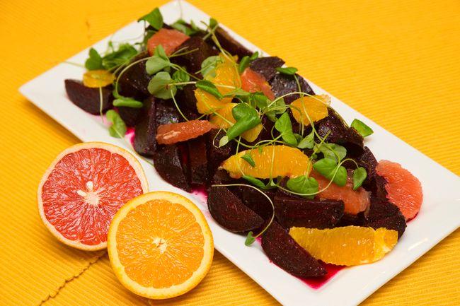 Roasted Beet Salad with Citrus Segments. (Mike Hensen/QMI AGENCY)