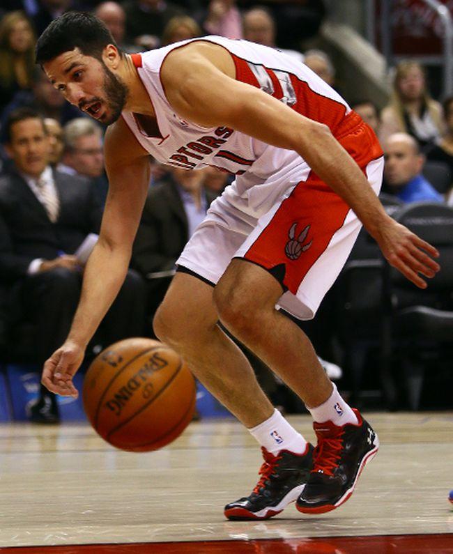 The Raptors' Greivis Vasquez (Dave Abel/Toronto Sun)