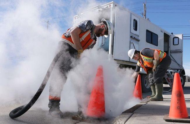 water services steam frozen storm drains