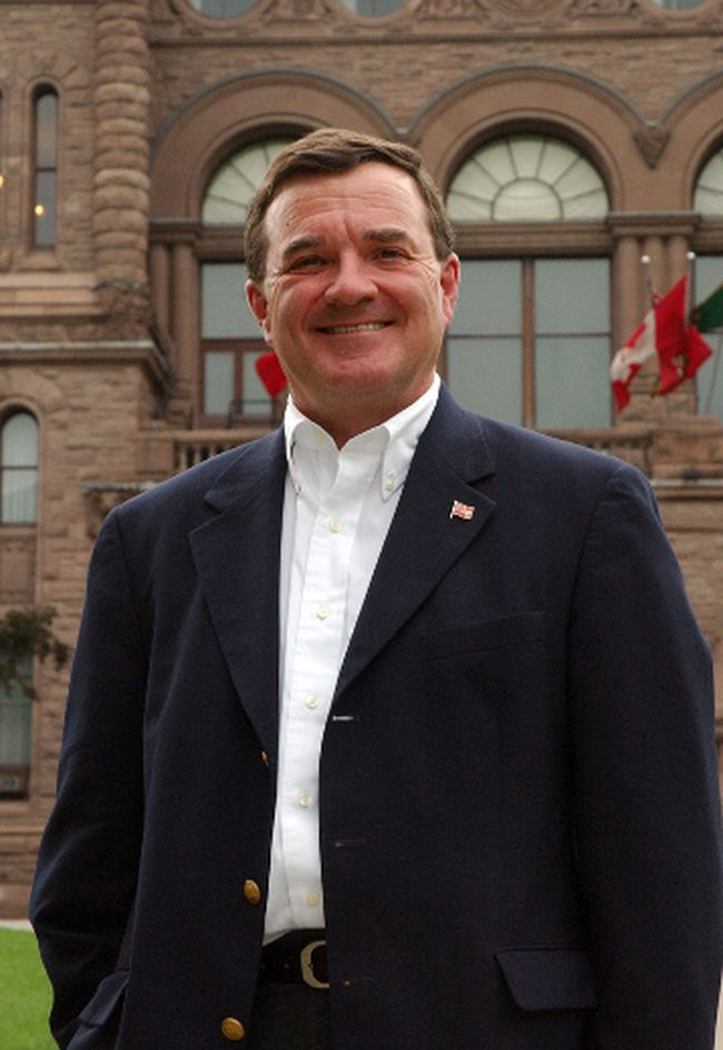 Jim Flaherty outside Queen's Park in September 2004. (Dave Abel/Toronto Sun)