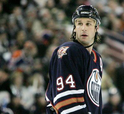January 26, 2007. Edmonton Oilers' Ryan Smyth looks on during a break in play against the San Jose Sharks during second period NHL action in Edmonton, Alta., on Friday January 26, 2007. Edmonton Sun/QMI Agency