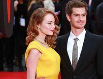 "Emma Stone and Andrew Garfield. (Lexi Jones/<A HREF=""http://www.wenn.com"" TARGET=""newwindow"">WENN.COM</a>)"