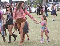 Alessandra Ambrosio and her daughter at Coachella. (WENN.com)