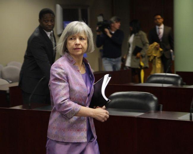 Ombudsman Fiona Crean prepares to present her report on Tuesday. (ERNEST DOROSZUK/Toronto Sun)