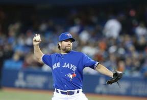 Blue Jays pitcher  R.A. Dickey. (VERONICA HENRI/Toronto Sun)