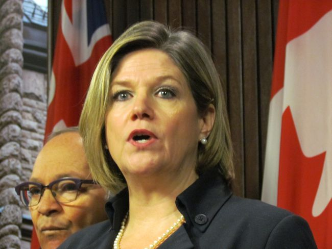 Ontario NDP Leader Andrea Horwath releases an open letter to Premier Kathleen Wynne on April 23, 2014. (Antonella Artuso/Toronto Sun)