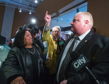 Toronto Mayor Rob Ford walks into TCHC headquarters in Toronto, Ont. on Friday April 25, 2014.  Ernest Doroszuk/Toronto Sun/QMI Agency