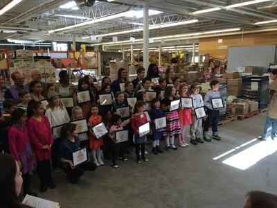 at Winnipeg Harvest's Kids Who Care awards ceremony April 26, 2014. (TESSA VANDERHART/Winnipeg Sun)