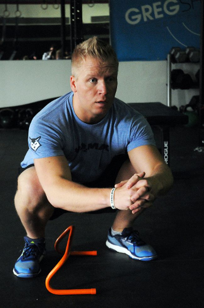 Paul Sipek, of Grande Prairie, Alberta, works out at Cross Fit V02 Max on Friday. Logan Clow/Daily Herald-Tribune