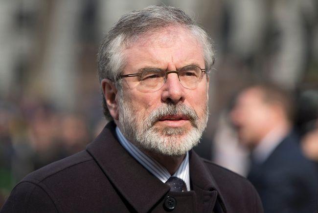 Sinn Fein president Gerry Adams.  REUTERS/Neil Hall