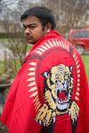 Kumaran Markandu at his home with a  Tamil flag London, Ont. on Friday May 2, 2014.   Mike Hensen/QMI Agency