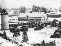 Sunnybrook Farm, view of bldgs, parked cars. - December 1, 1925