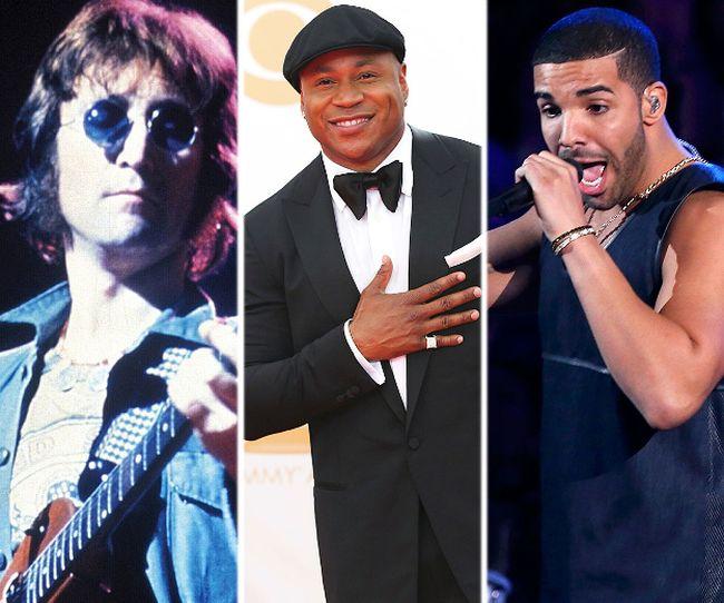 (L-R) John Lennon, LL Cool J, and Drake. (Reuters/WENN.com file photos)
