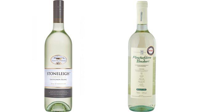 Stoneleigh Vineyards 2013 Sauvignon Blanc, left, and Jean Boutari & Fils 2012 Moschofilero. (Supplied)