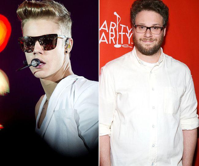 """Justin Bieber and Seth Rogen (<A HREF=""""http://www.wenn.com"""" TARGET=""""newwindow"""">WENN.COM</a>)"""