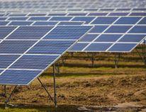 File photo of a solar energy farm