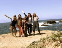 Alex Weber, left, Amanda Laboni, Loren Romei, Emily Milne and Kate Tittel strike a pose on California's scenic Mendocino coast. ALEX WEBER PHOTO