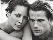 Christy Turlington Burns and model Mark Vanderloo in the the classic 1995 ETERNITY ad. (© Peter Lindbergh)
