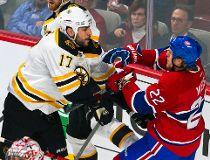 Bruins. Lucic threatened Canadiens' Weise, Emelin in handshake line