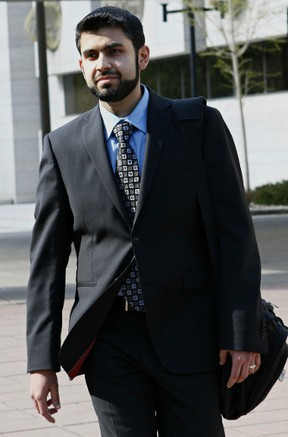 Misbahuddin Ahmed, accused terror conspirator, leaves the Ottawa Courthouse on Wednesday May 14, 2014. Errol McGihon/Ottawa Sun/QMI Agency