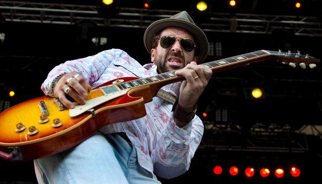 Guitarist John-Angus MacDonald and The Trews salute heroes. (DEREK RUTTAN, The London Free Press)