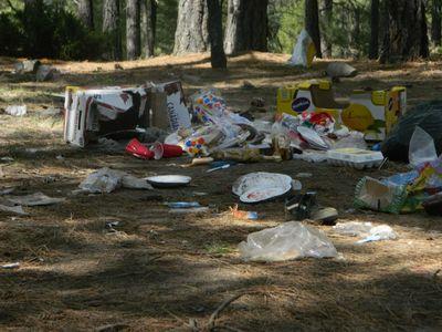 Demolished campsites thanks to Calgarians and Albertans. Photo Courtesy Heath Slee .Calgary, Alta. on Monday May 19, 2014. Darren Makowichuk/Calgary Sun/QMI Agency