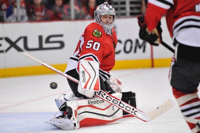Chicago Blackhawks goaltender Corey Crawford (Rob Grabowski/USA TODAY Sports)