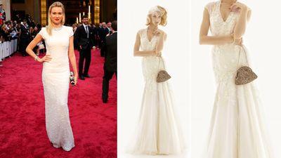 "<b>Red Carpet:</b> Naomi Watts at the Oscars<br><b>Bridal:</b> Melissa Sweet, <A HREF=""http://www.davidsbridal.ca/HomeView"" TARGET=""newwindow""> David's Bridal </a><br>(REUTERS/Mike Blake)<div id=""pd_rating_holder_7639871""></div> <script type=""text/javascript""> PDRTJS_settings_7639871 = { ""id"" : ""7639871"", ""unique_id"" : ""default"", ""title"" : """", ""permalink"" : """" }; </script> <script type=""text/javascript"" src=""http://i0.poll.fm/js/rating/rating.js""></script>"