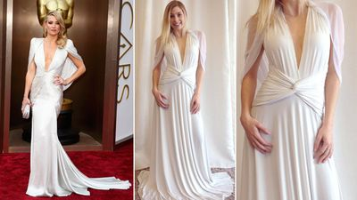 "<b>Red Carpet:</b> Kate Hudson at the Oscars<br><b>Bridal:</b> Sakura Convertible Maxi Dress, <A HREF=""http://www.henkaa.com/""TARGET=""newwindow""> Henkaa </a> and <A HREF=""http://www.thebay.com/webapp/wcs/stores/servlet/en/thebay/search/Kleinfeld"" TARGET=""newwindow""> Kleinfeld Hudson's Bay</a><br>(REUTERS/Lucas Jackson)<div id=""pd_rating_holder_7639859""></div> <script type=""text/javascript""> PDRTJS_settings_7639859 = { ""id"" : ""7639859"", ""unique_id"" : ""default"", ""title"" : """", ""permalink"" : """" }; </script> <script type=""text/javascript"" src=""http://i0.poll.fm/js/rating/rating.js""></script>"