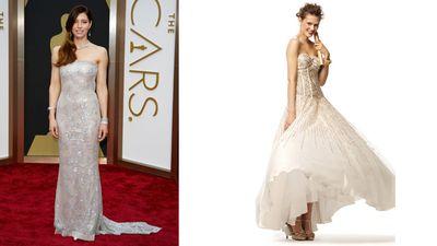 "<b>Red Carpet:</b> Jessica Biel at the Oscars<br><b>Bridal:</b> <A HREF=""http://www.davidsbridal.ca/HomeView"" TARGET=""newwindow""> David's Bridal </a> <br>(REUTERS/Lucas Jackson)<div id=""pd_rating_holder_7639856""></div> <script type=""text/javascript""> PDRTJS_settings_7639856 = { ""id"" : ""7639856"", ""unique_id"" : ""default"", ""title"" : """", ""permalink"" : """" }; </script> <script type=""text/javascript"" src=""http://i0.poll.fm/js/rating/rating.js""></script>"