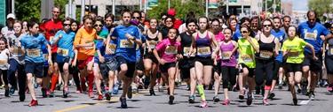 The start of the Tamarack Ottawa race Weekend Ottawa 2K on Saturday May 24, 2014. Errol McGihon/Ottawa Sun/QMI Agency